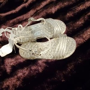 🆕️ 🥿 GLITTERY CLEAR TODDLER GIRL SANDALS